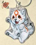 Chibiterasu necklace by PixelRaccoon