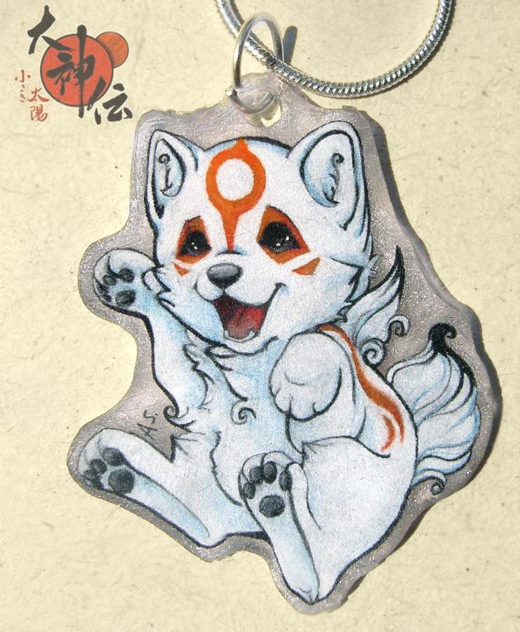 Chibiterasu necklace by SirKittenpaws