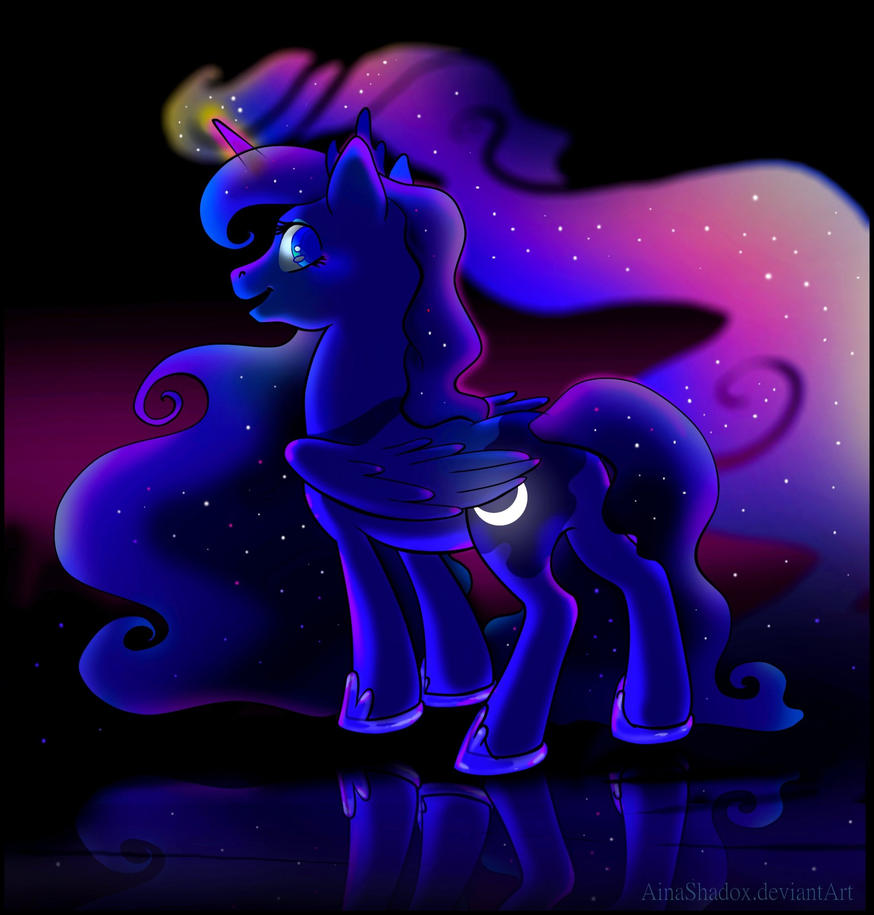 Luna- Princess of the nightsky by SirKittenpaws