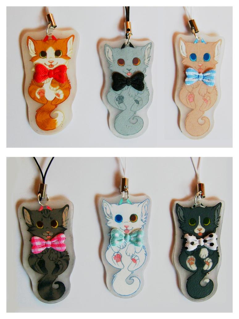 Adoptable kitten charms by SirKittenpaws