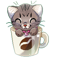 Coffee Mug Kitten by SirKittenpaws