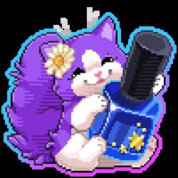 Purple Kitty pixel by PixelRaccoon