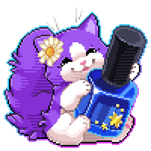Purple Kitty pixel