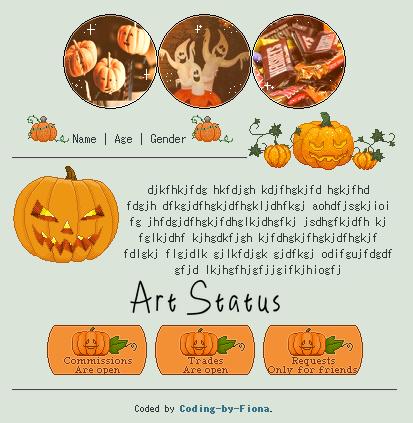 Pumpkin Halloween Code [F2U] by Coding-by-Fiona