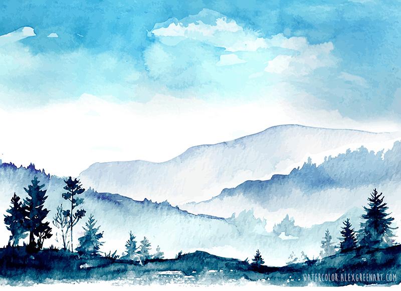 Mountains by AlexGreenArt