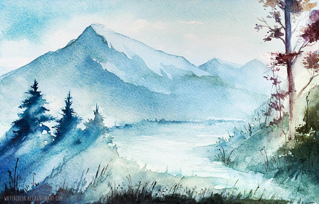 Mountains part 2 by AlexGreenArt