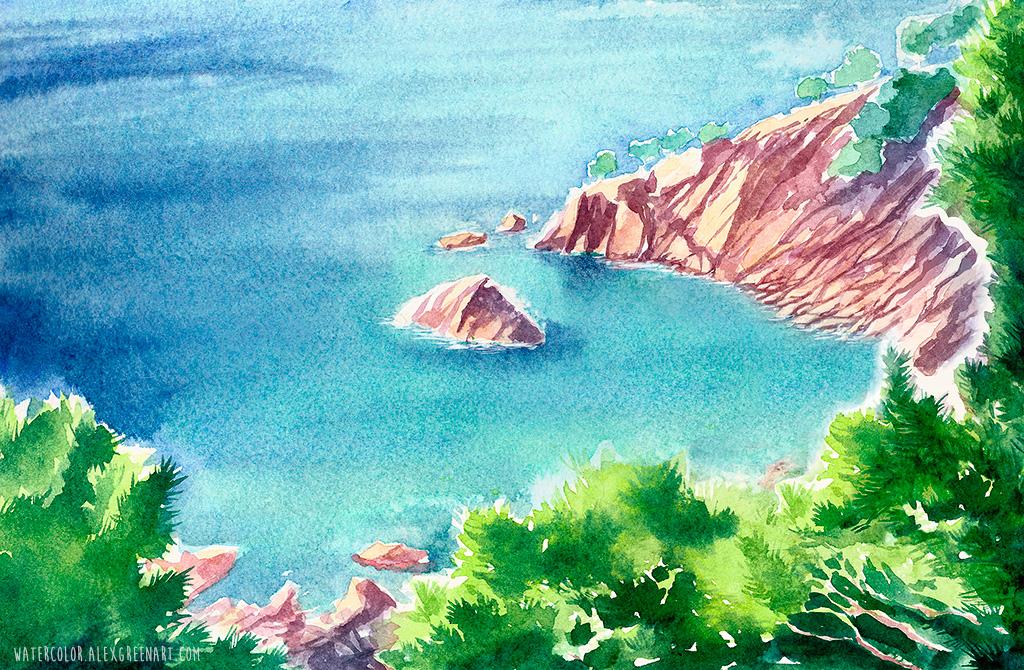 a little island by AlexGreenArt