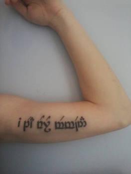 Quenya Tattoo