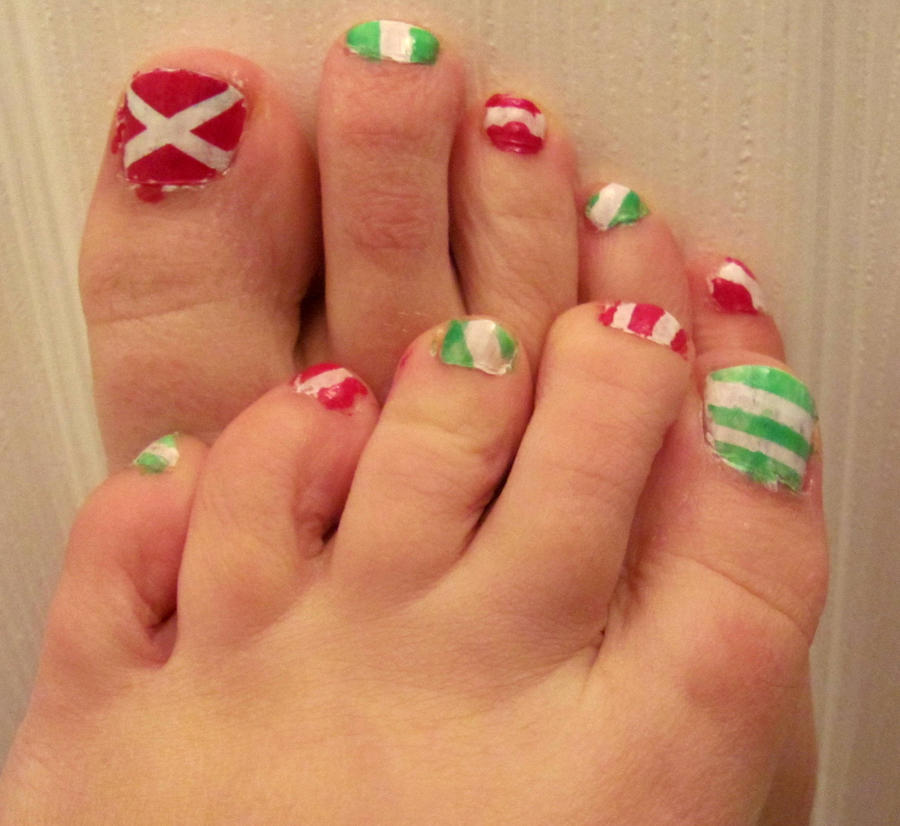 Christmas Toes 2 By Katstoesnsoles On Deviantart