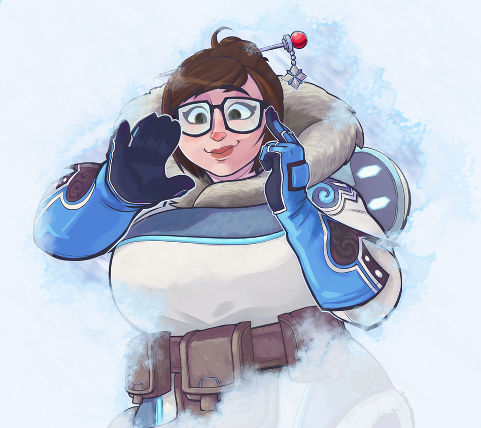 Boombox Pop Art Overwatch: Mei by Dans...