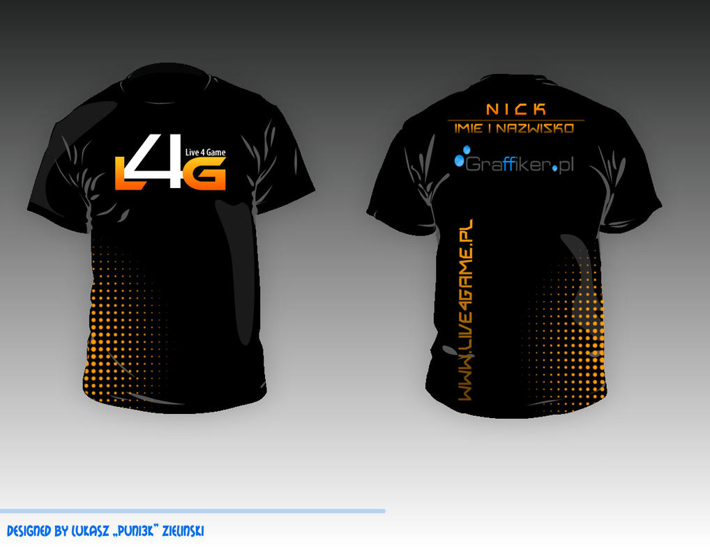 E sport t shirt live4game gaming by puni3k on deviantart for What is a sport shirt