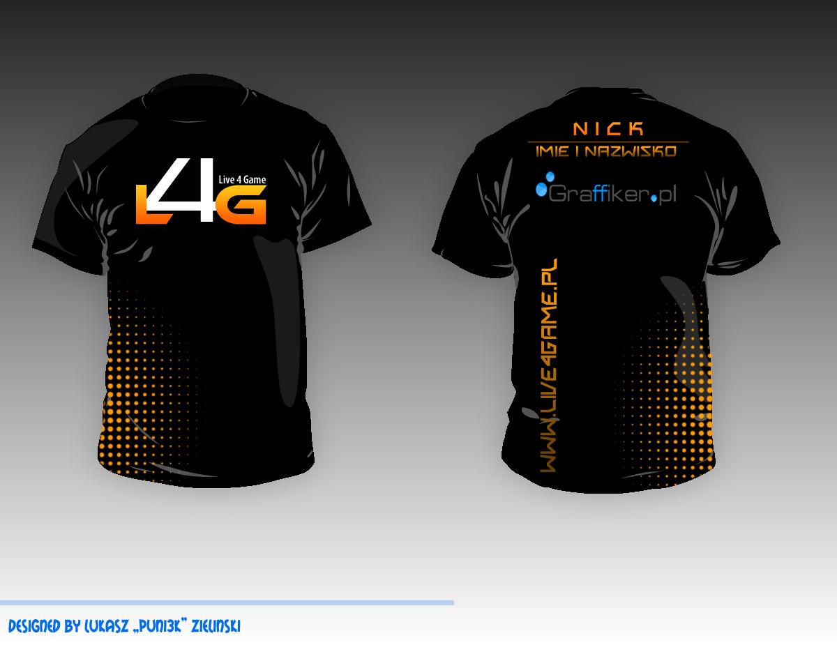 E sport t shirt live4game gaming by puni3k on deviantart for Design t shirt sport