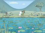 Moomin Screenshot Redraw:Lily Pads