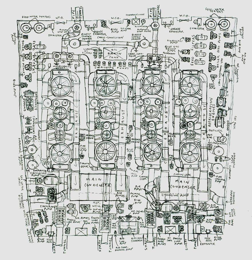 Rms Canada Engine Room Plan By Ninjapickle On Deviantart