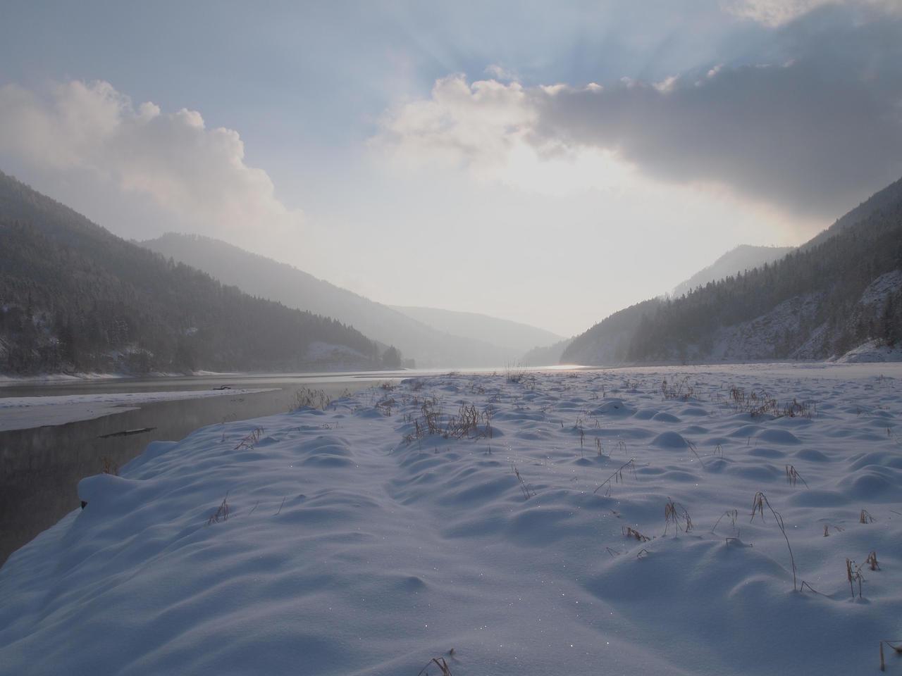 weak winter sun