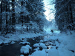 Winter Stock: river and bridge
