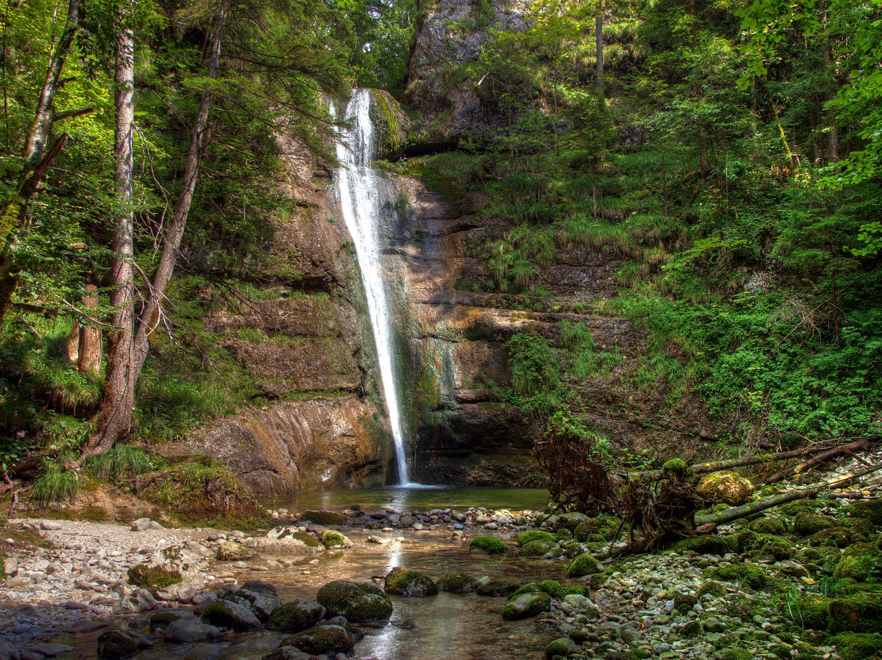 Waterfall Background by Burtn