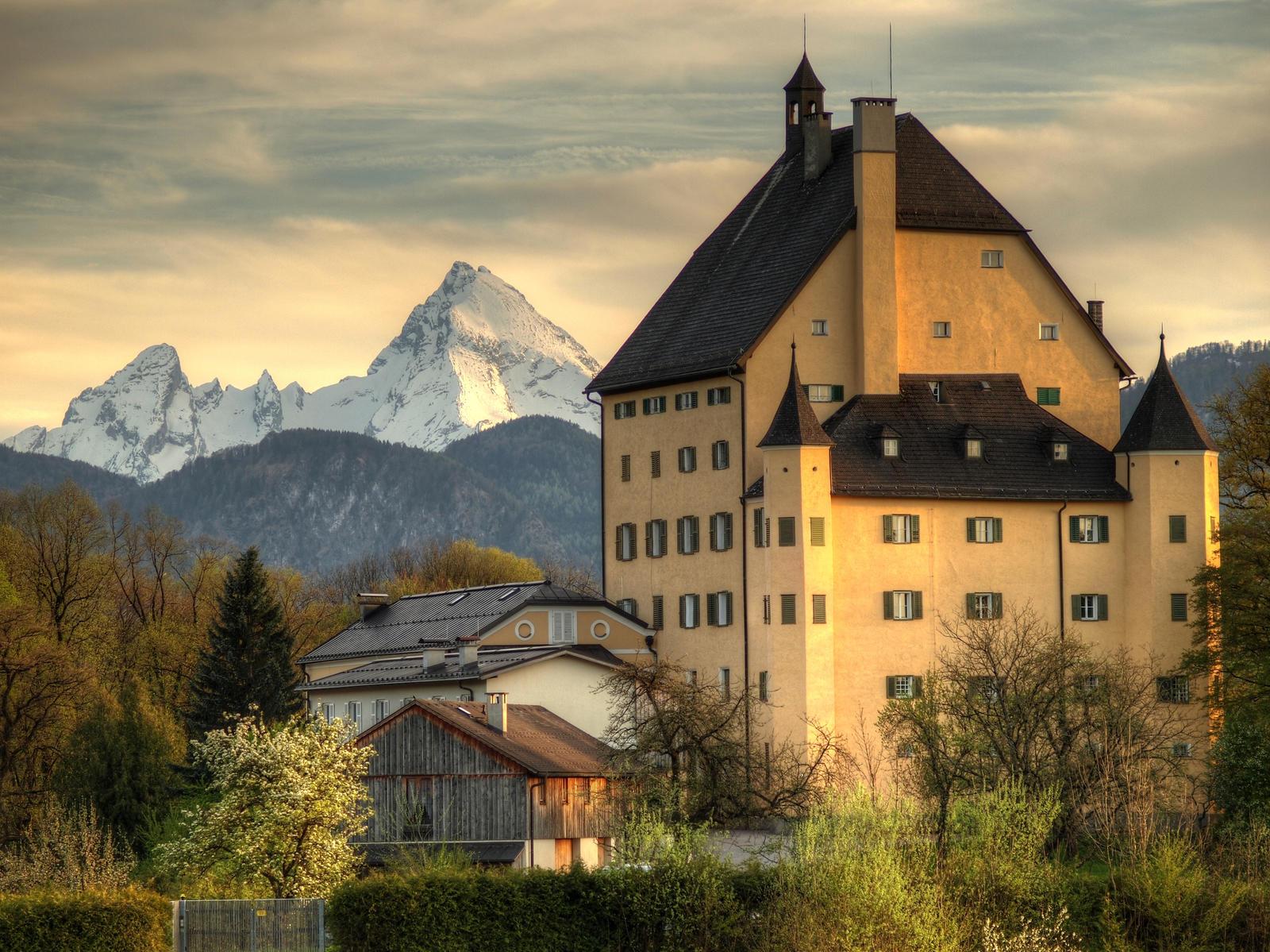 Goldenstein Castle And Mount Watzmann