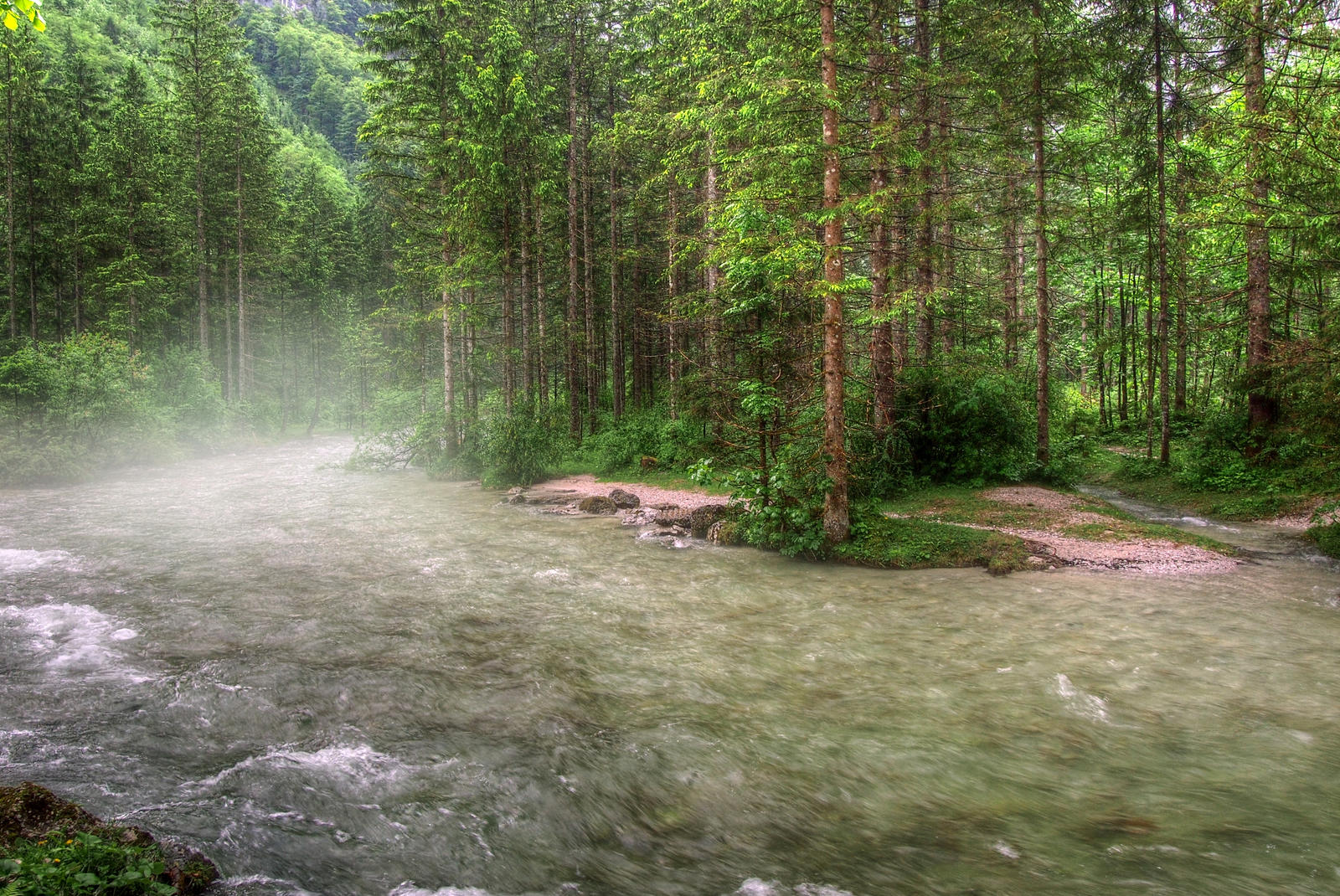 Foggy River by Burtn