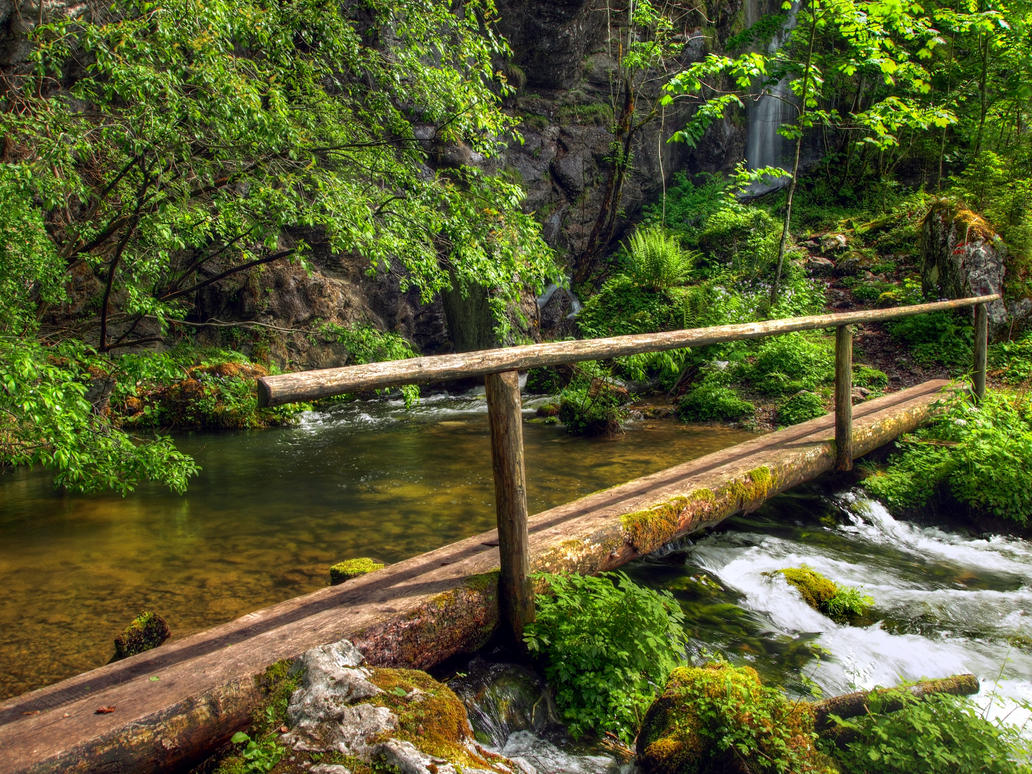 Bridge At The Spring by Burtn