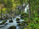 Close To The Waterfall by Burtn