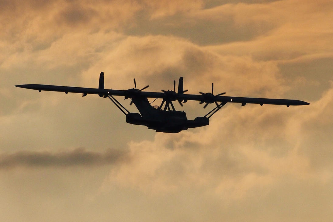 Seaplane Approaching by Burtn
