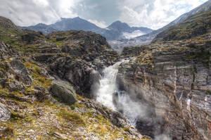 Fantasy Background With Waterfall by Burtn