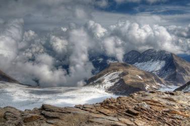Cloudy Alps by Burtn