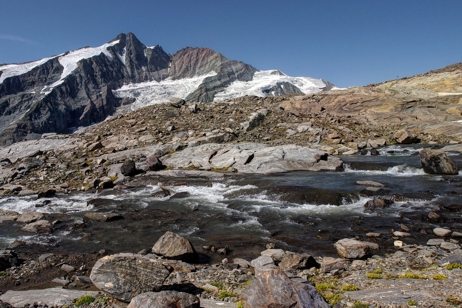 Mountainscape With River by Burtn