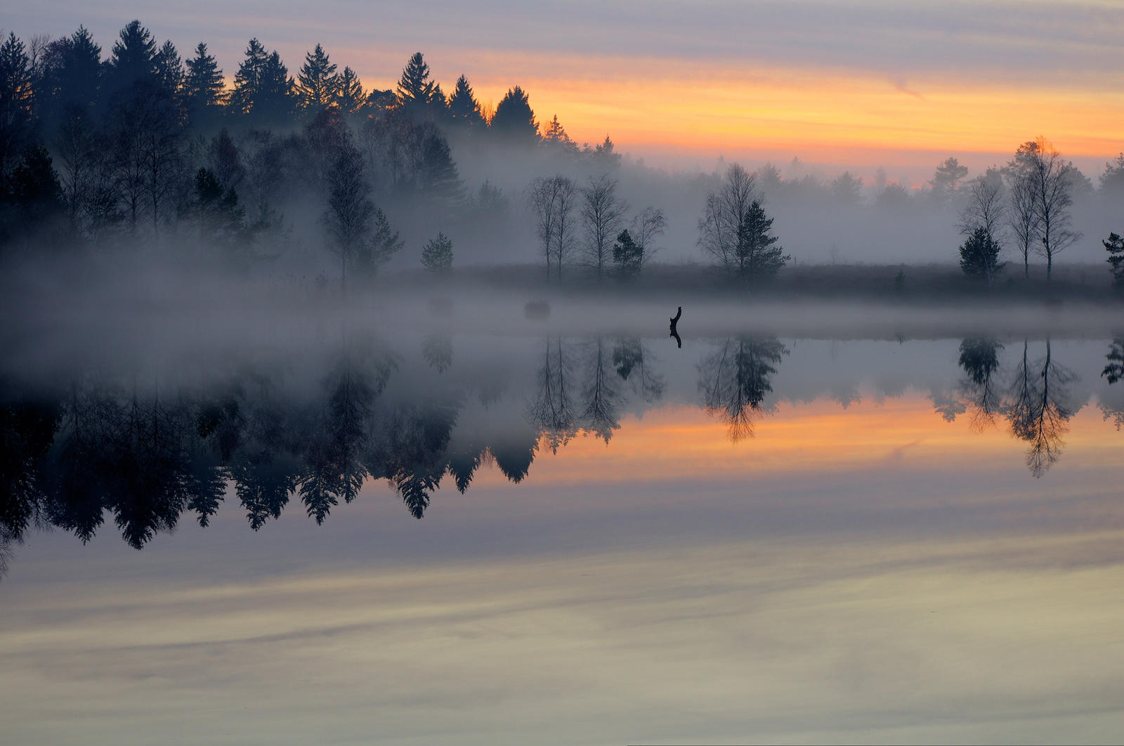 Misty Lake by ~Burtn