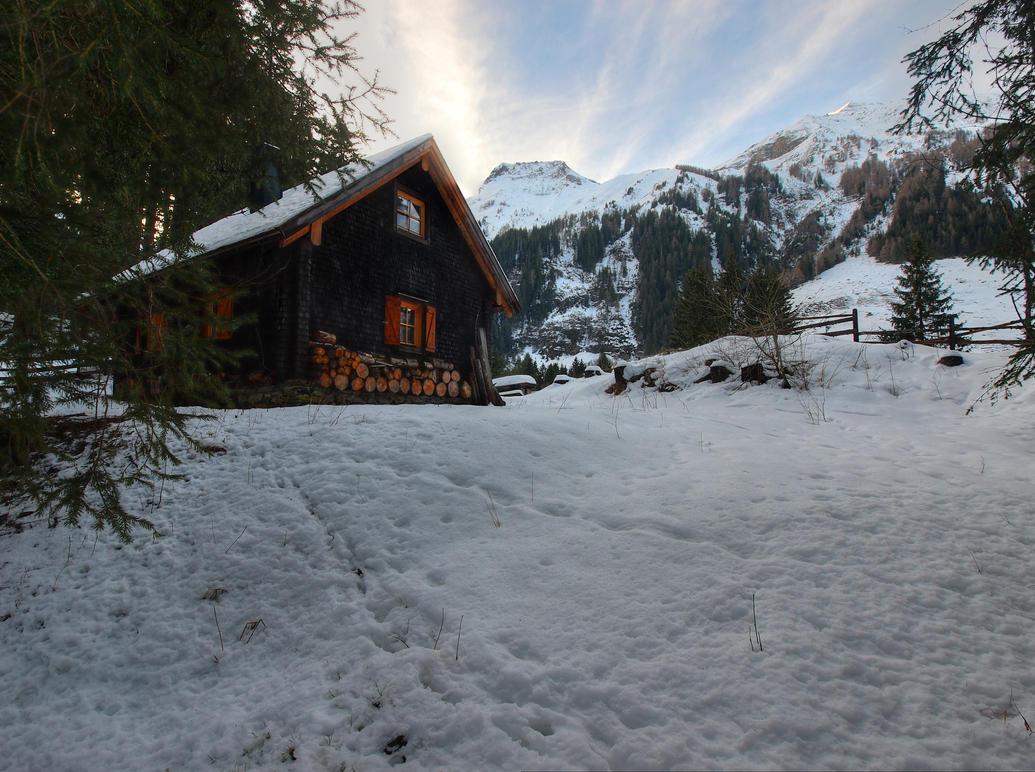 Lonely Cabin by Burtn