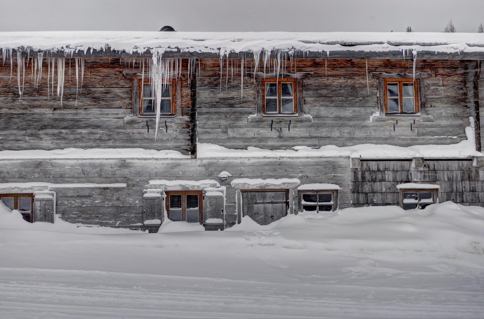 Iced Farmhouse Background by Burtn