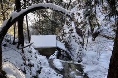 The Hidden Old Watermill by Burtn
