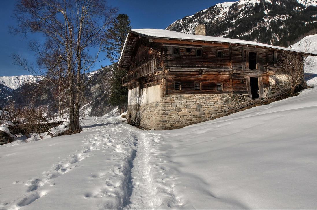 The Old Farmhouse by Burtn