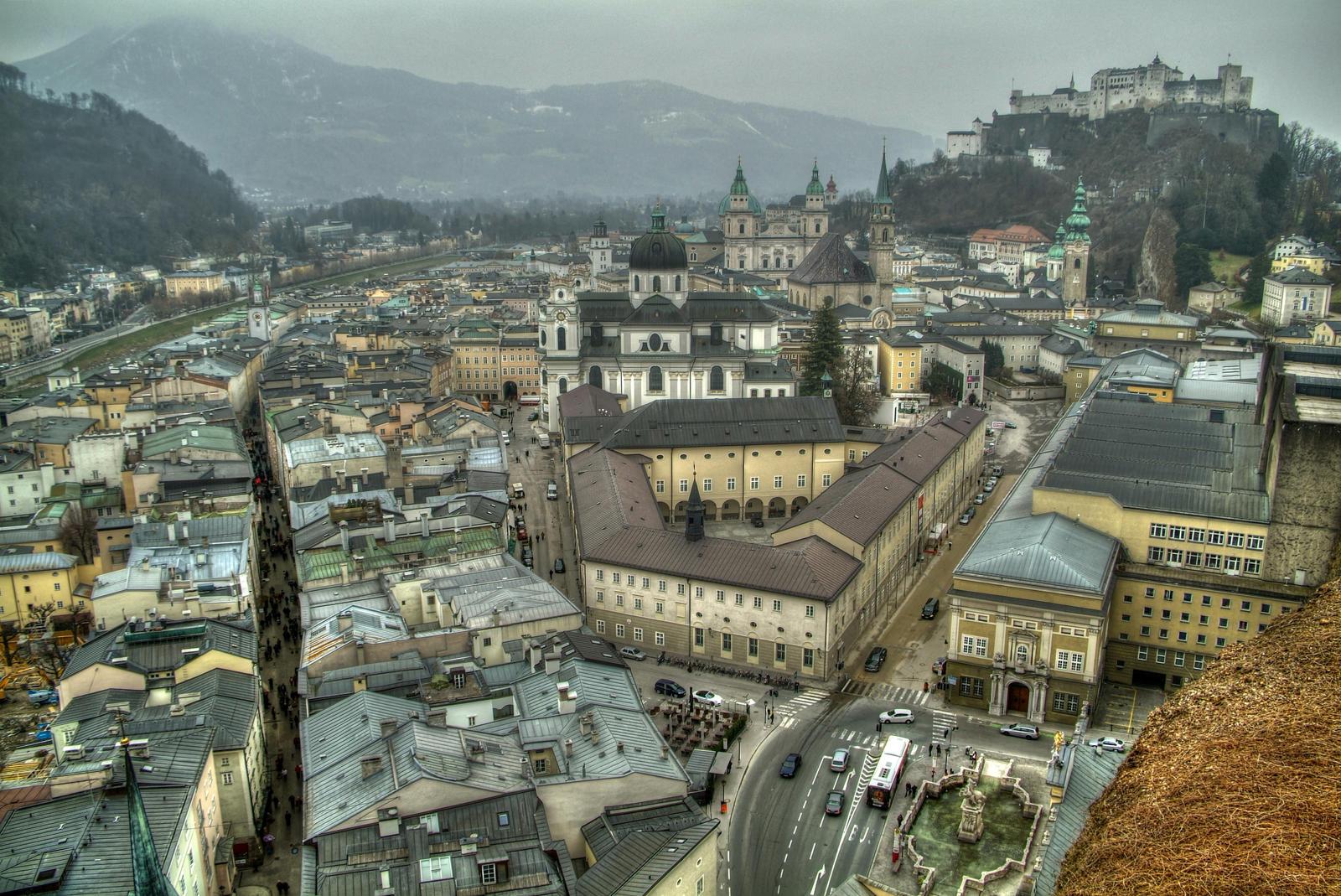 Salzburg City View by Burtn