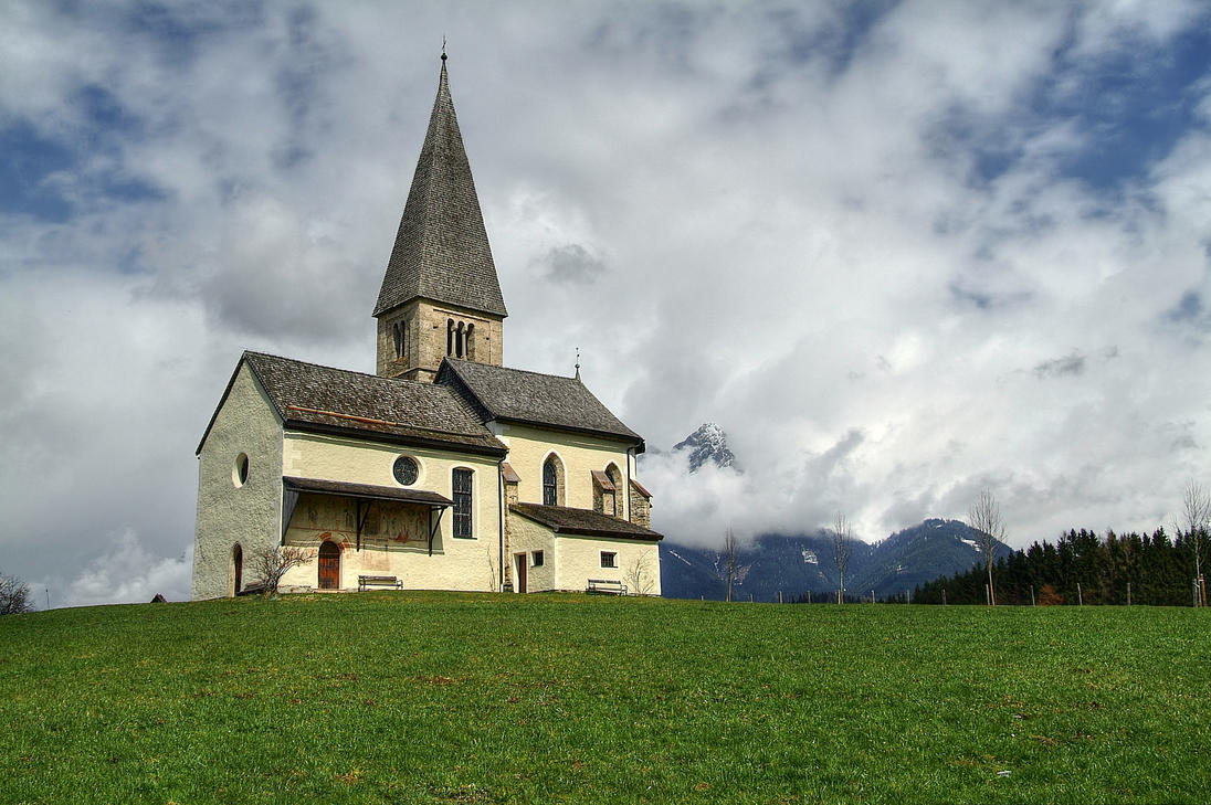 Old Lonesome Church by Burtn