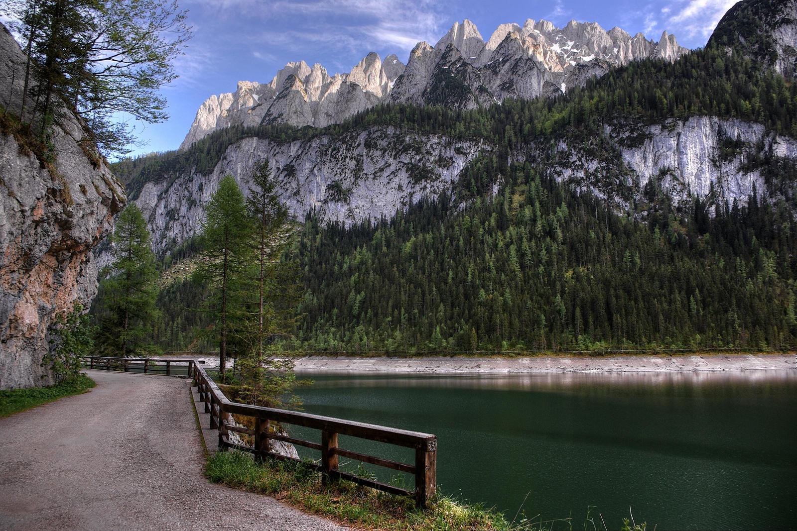 Road Along The Lake by Burtn