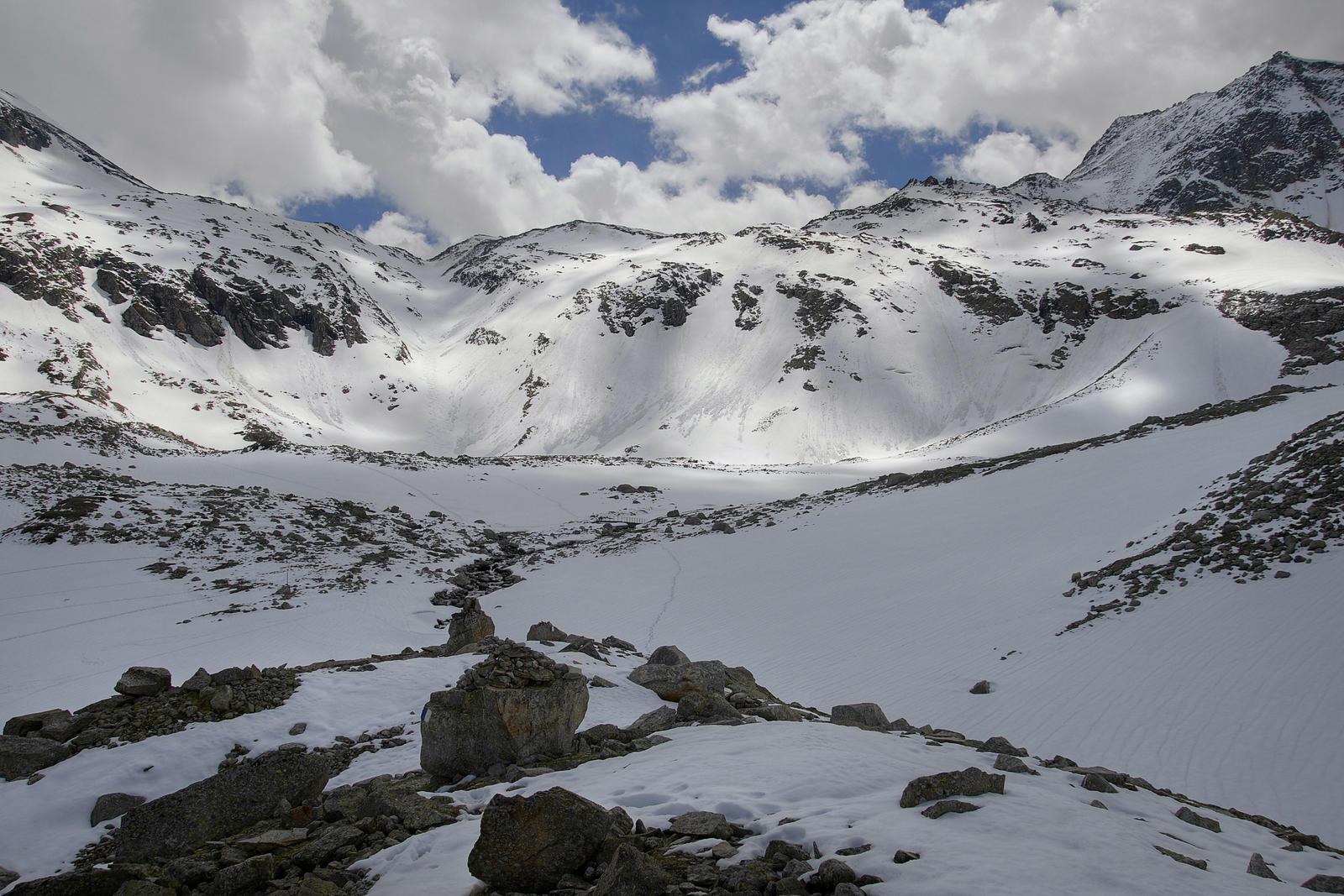 Snowy Mountains Background by Burtn