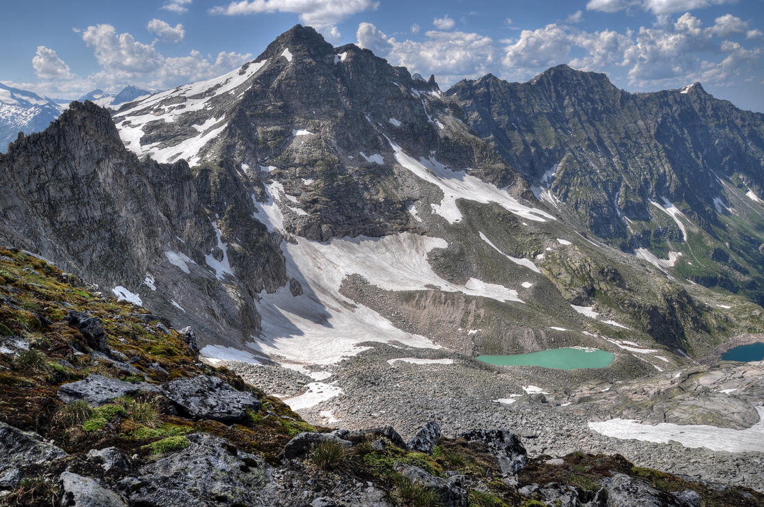 Alps With Lakes by Burtn