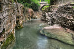Canyon And Old Bridge