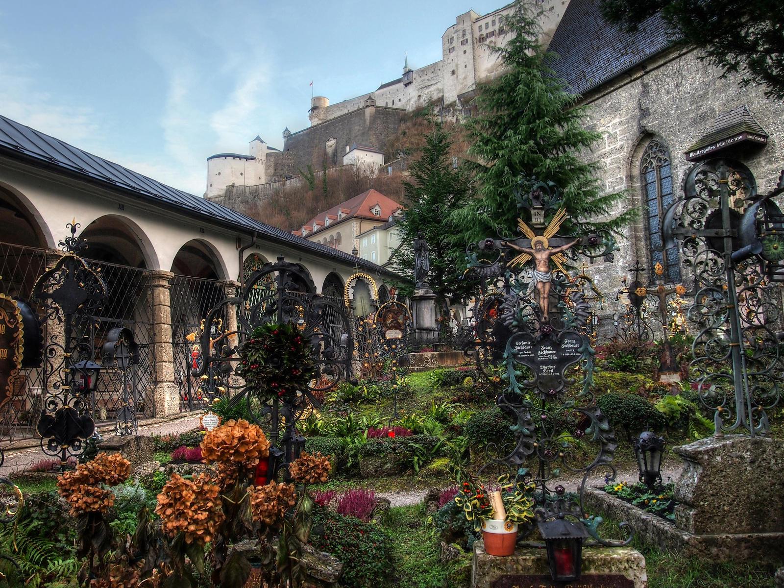 St.Peter's Cemetery Salzburg by Burtn