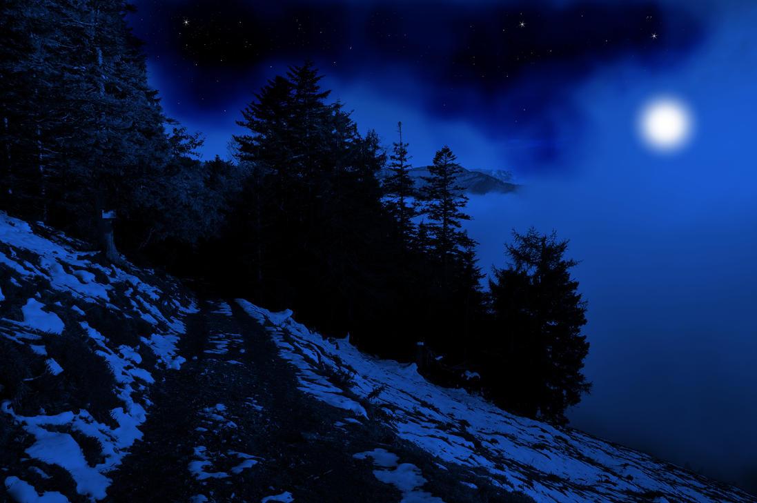 Blue Night Background by Burtn