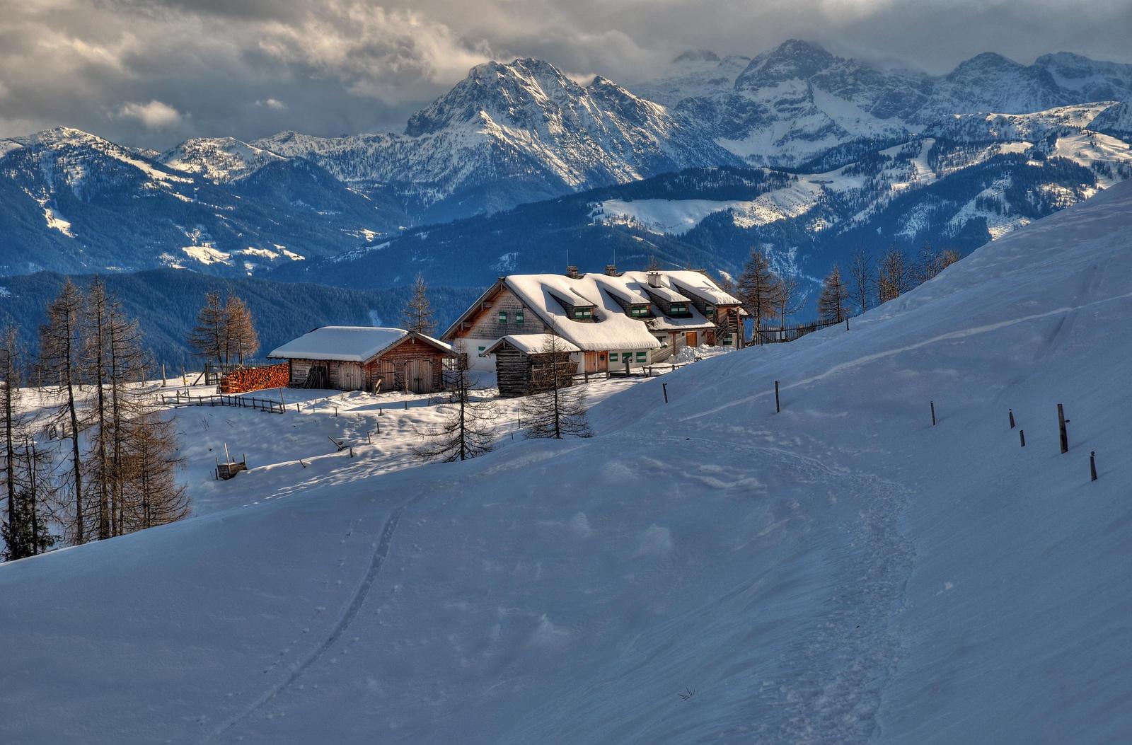 January Mountain Scene by Burtn