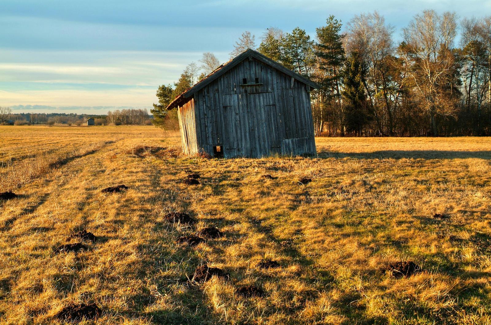 Tilted Barn by Burtn