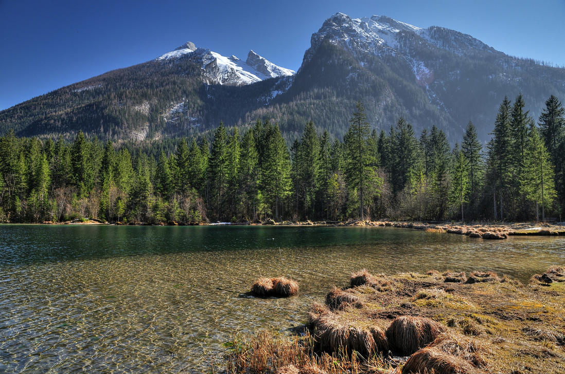 Mountain Lakeside by Burtn