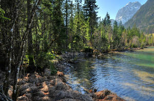 Mountain Lakeside 2nd by Burtn
