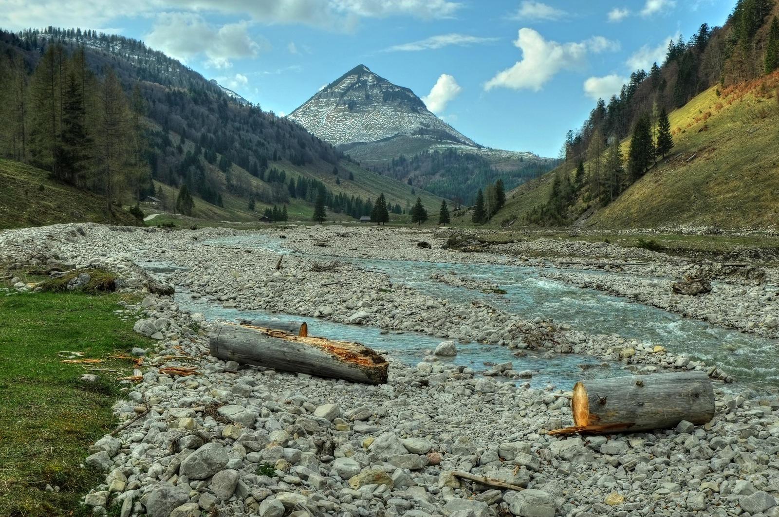 Mountain Riverscape by Burtn