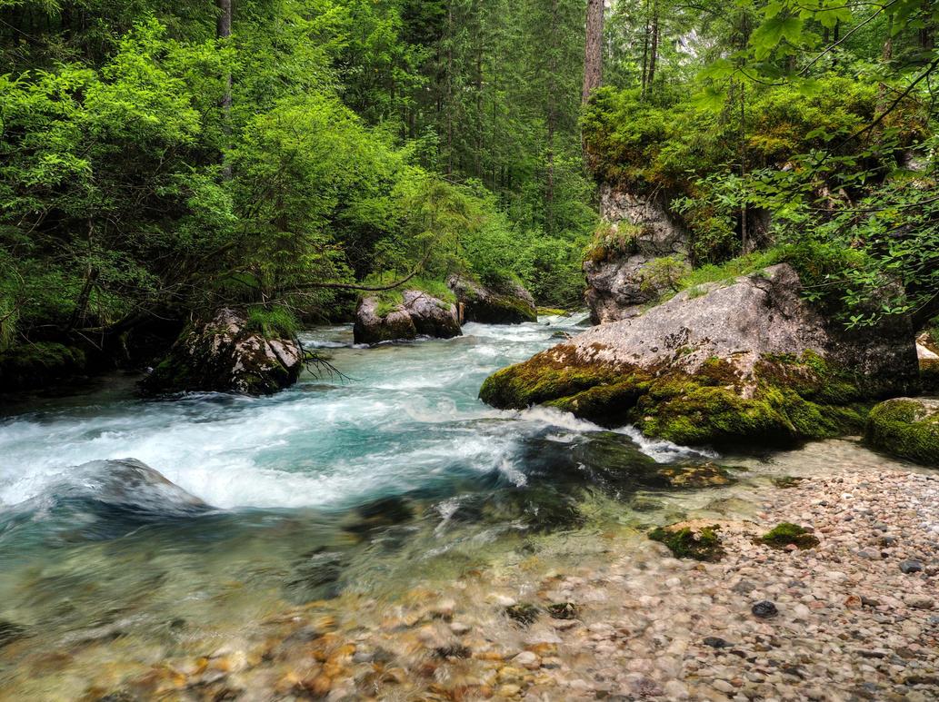 Flowing Away by Burtn