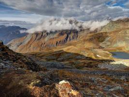 Autumn Mountainscape by Burtn