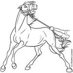 Spooked Horse - lineart